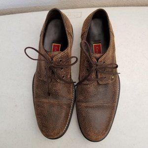 Cole Haan Casual Distressed Brown Oxford Shoe 11M